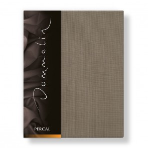 Dommelin Laken Deluxe Percal Taupe