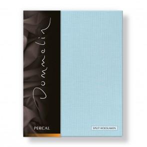 Dommelin Split Hoeslaken Deluxe Percal Pastelblauw