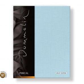 Dommelin Split Topper Hoeslaken 10-14 cm Percal 200TC Pastelblauw