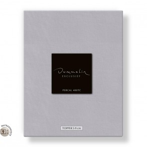 Dommelin Topper Hoeslaken 5-9 cm Percal 400TC Lichtgrijs