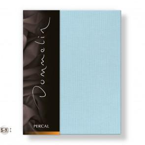 Dommelin Topper Hoeslaken Deluxe Percal Pastelblauw
