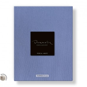 Dommelin Topper Hoeslaken 5-9 cm Percal 400TC Staalblauw