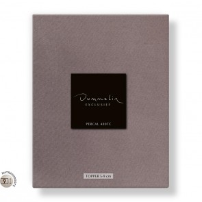 Dommelin Topper Hoeslaken 5-9 cm Percal 400TC Taupe