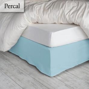 Dommelin Bedrok Deluxe Percal Pastelblauw