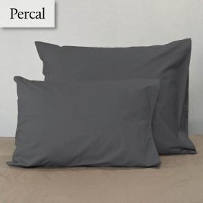 Dommelin Kussensloop Percal 200TC Olifantgrijs 35 x 50 cm