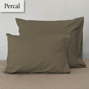 Dommelin Kussensloop Percal 200TC Taupe 35 x 50 cm
