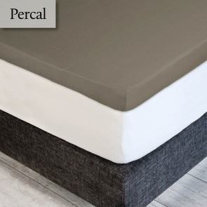 Dommelin Topper Hoeslaken Percal 200TC Taupe
